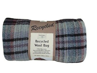Tweedmill Welsh Tartan Check Rug Throw Blanket Recycled Wool Multicolour New • 17.99£