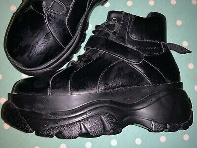 Fat Soles Buffalo Sketcher Style Black Boots Shoes Trainers Size 5 Brand New  • 5.50£