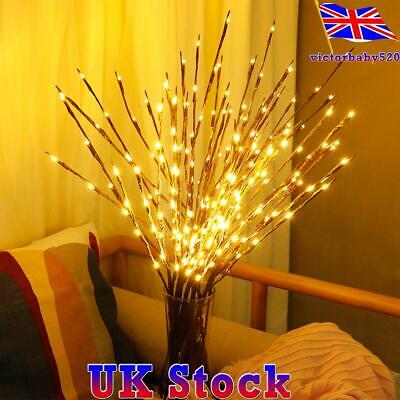 £9.95 • Buy Xmas 20 LED Tree Branch Led Light Battery Decor Willow Twig Branch Lights Lamp