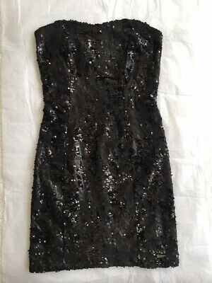 Women Guess Sequin Short Dress In Black, Size S , Used, Great Condition • 30£