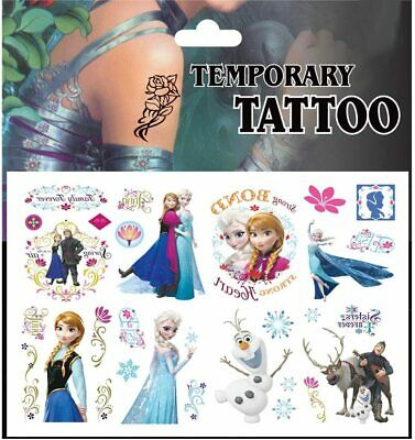 1 X FROZEN Temporary Tattoo Sheets Children Kids Birthday Party Bag Filler • 1.85£