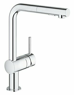 GROHE 30274000 | Minta L-Spout Kitchen Tap | Pull-Out Spray | Chrome • 212.99£