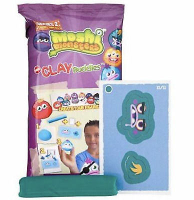 5x Moshi Monsters Clay Buddies - Mini Clay - Goodie Bags, Party, Toys, Kids, Fun • 5.99£