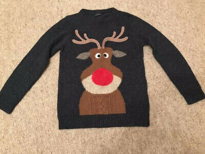 Fabulous Next Boys Age 9 'Rudolph' Christmas Jumper - VGC! • 1.50£