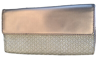 Fossil Jori Wallet, Purse , Grey/Metallic RFID, NEW • 22£