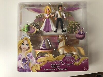 Authentic Disney Princess Rapunzel, Flynn Rider Wedding Set Polly Pocket Doll • 14£