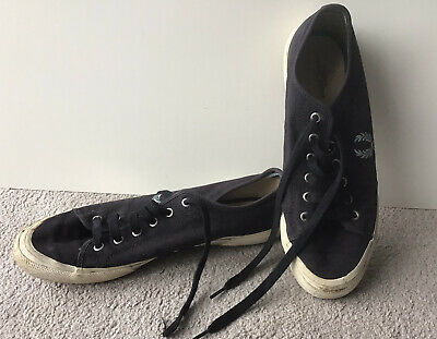 Mens Fred Perry Shoes - Casual Pumps / Plimsolls Canvas Navy Blue. Size UK 10 • 1.99£