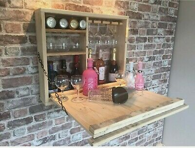 Wooden Outside Wall Hung Bar. Ideal For Your Hot Tub...For Beer, Wine And Gin • 70£
