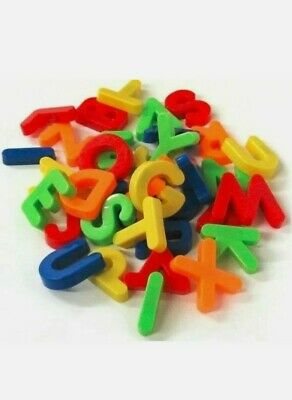 Fridge Magnets Alphabet Numbers STRONG MAGNETIC BABY LETTERS 26pk FREE P & P • 2.99£