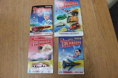 Job Lot Matchbox 4 Different THUNDERBIRDS Vehicles Rockets 1993 Factory Sealed • 5.50£