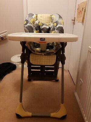 Chicco Polly Highchair - Yellow/Grey • 15£
