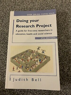 £2 • Buy Doing Your Research Project: A Guide For First-time Researchers In Education