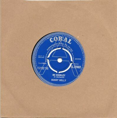 Buddy Holly 'Bo Diddley' Round Centre Double Sided Demonstration Sample Q72463 • 35£
