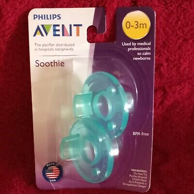 AU6.31 • Buy Philips AVENT 2 Pack SCF190/01 Soothie Pacifier 0-3mth Green/Green