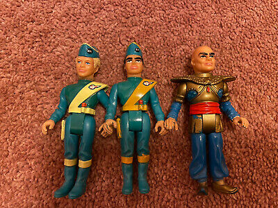 Thunderbirds Are Go Matchbox 1992 Vintage Action Figures X3 • 1.80£