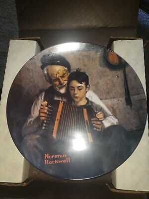 $ CDN129.76 • Buy Norman Rockwell Collector's Plate  The Music Maker  1981 Limited Edition