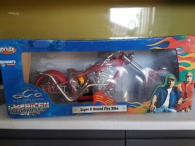 1/6 Scale Fire And Light Sound Bike By Orange County Choppers Fully Working And • 45£