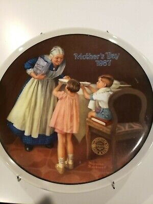 $ CDN6.47 • Buy Norman Rockwell  Grandma's Surprise  1987 Mother's Day Collector's Plate Knowles