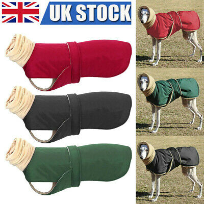 Dog Coat Winter Warmer Clothes Thick Hoodie Dog Jacket Greyhound & Lead Hole • 13.99£