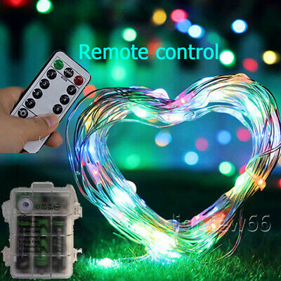Mulyi Color LED Battery Fairy String Lights Xmas Party Outdoor Remote Control • 7.82£