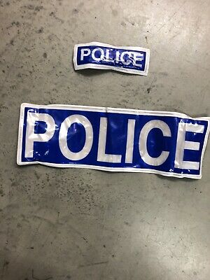 Ex Police Reflective Badge Set Of 2 Film And Tv Used On Hook And Loop • 5.99£