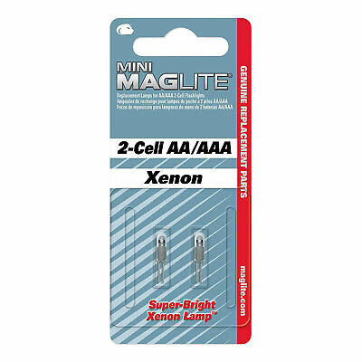 Genuine Mini Maglite Replacement Bulbs. AA + AAA 2 Cell Bulbs - Mag Lite Sealed • 5.25£