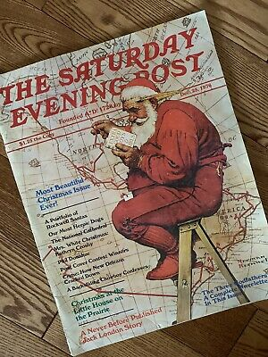 $ CDN17.89 • Buy Saturday Evening Post Magazine Norman Rockwell Cover December 25 1976 Christmas