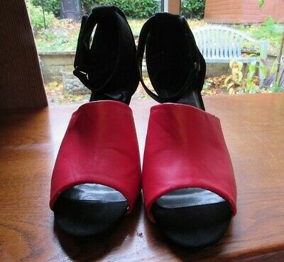 New Look Black And Red Stiletto Shoes Size 8, Used In Good Condition. • 4.25£