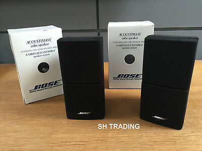 2 X Boxed Black Double Cube Acoustimass 5 10 15  Lifestyle 18 28 Speakers Etc • 115£