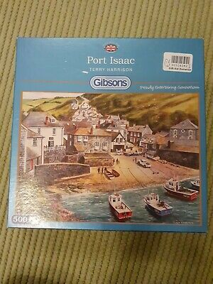 500 Piece Jigsaw Gibsons Port Issac Terry Harrison Cornwall Doc Martin • 10£