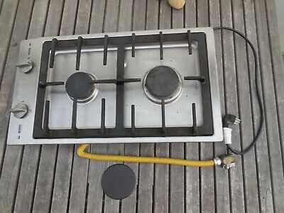£456.82 • Buy CS1012 G Miele Double Gas Burner Cook Top Stainless Steel USED RANGE STOVE