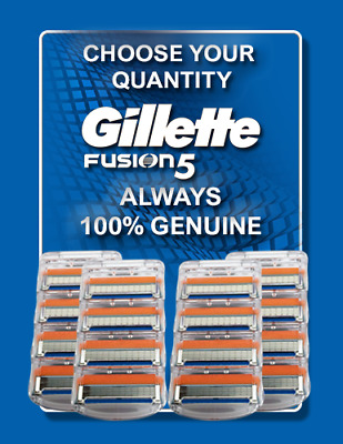 Gillette Fusion5 Orange Shaving Razor Cartridge Blade Men Genuine POST FREE • 8.79£