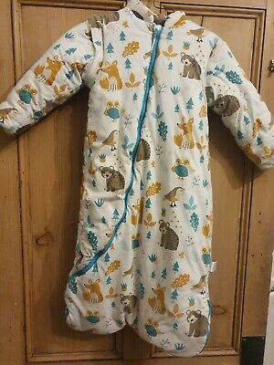 Boy /girl Winter Tog Sleep Sack, Aged 2-3 With Removable Sleeves, Animal Pattern • 6.50£