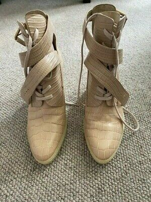 AU40 • Buy Designer Alexander Wang Size 37 Cream Booties. Worn Once In Perfect Condition