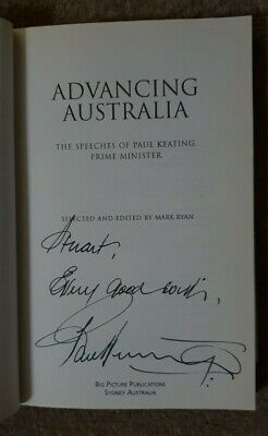 AU350 • Buy Advancing Australia -The Speeches Of Paul Keating PM Book SIGNED By Paul Keating