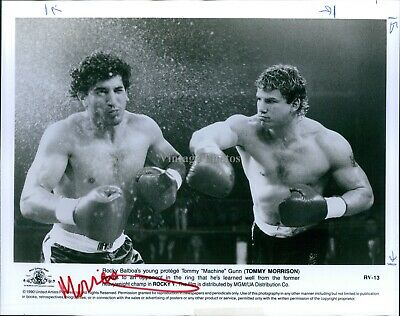 1990 Photo Actor Rocky V Tommy Morrison As The Young Protege Machine 8X10 • 14.97£
