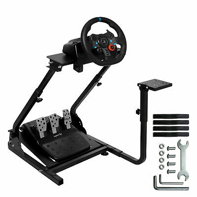 Racing Simulator Steering Wheel Stand Gaming For G29 G920 T300RS XBOX ONE PS4 UK • 58.99£