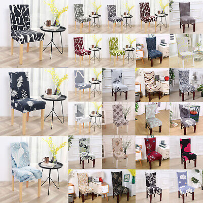 AU7.69 • Buy Stretch Dining Chair Covers Slipcover Spandex Wedding Cover Removable Modern