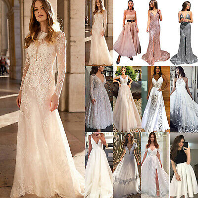 Women Sexy Formal Party Maxi Dress Wedding Bridesmaid Ball Gown Prom Costume • 19.39£