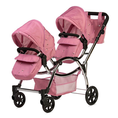 £164.99 • Buy Roma Darcie Twin Dolls Pram - 3 To 16 Years - Ideal For Reborn Dolls – Pink