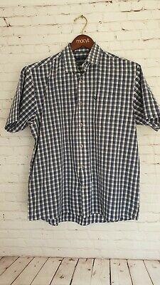 Lincoln Men's Check Shirt Short Sleeve Size Large Blue Great Condition • 14.99£