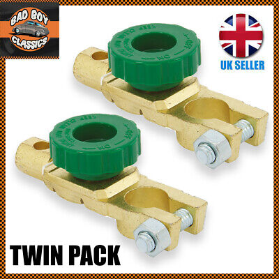 TWIN PACK Heavy Duty Battery Disconnect Isolator Cut Off Switch 12v 24v X2  • 7.95£