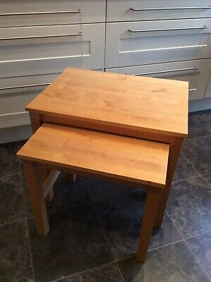 Ikea Nest Of Two Pine Tables • 22£
