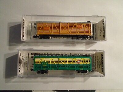 AU21.94 • Buy N Scale  Trains, Atlas, Model Railroad, Freight Cars    (  2 Stock  Cars     )