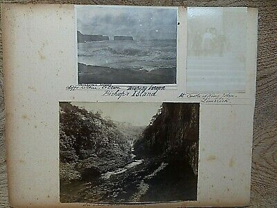 Page Of 7 Antique Photos:Bishops Is.;Buxton;Limerick;Colorado, Yew Tree Ballynur • 4.99£
