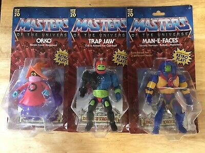 $85 • Buy Masters Of The Universe Origins Orko, Trap Jaw, Man-e-Faces Wave 2