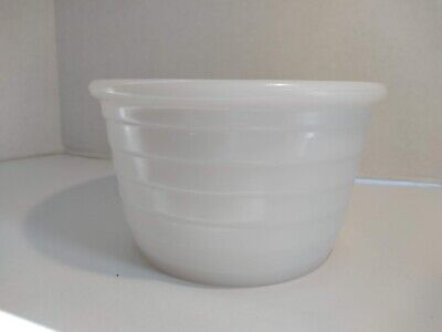 $29.99 • Buy General Electric Ridged Milk Glass Opalescent Ribbed 6.5  Vintage GE Mixing Bowl