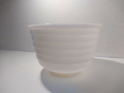 $14.99 • Buy General Electric Ridged Milk Glass Opalescent Ribbed 6  Vintage GE Mixing Bowl