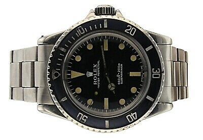 $ CDN18947.13 • Buy 1971 VINTAGE ROLEX SUBMARINER  5513 AUTOMATIC BLACK Dots & Triangle Hour Markers