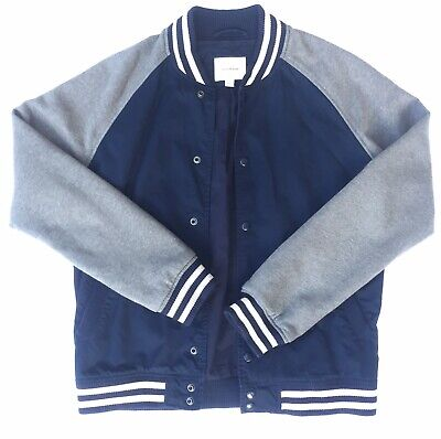 Country Road Mens Bomber Jacket Size Large Varsity Blue And Grey Jacket RRP $180 • 41.28£